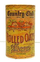 Antique Kroger Country Club Rolled Oats Container Box Kroger Cincinnati, Oh.