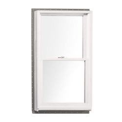 Double Hung Window 33.62 In. W X 52.87 In. H Argon Gas Insulated Nail-fin Wood