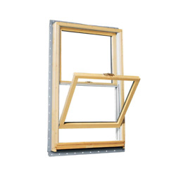 Andersen Double Hung Window 33.625 In. W X 48.875 In. H Wood Clad Nail Fin Frame
