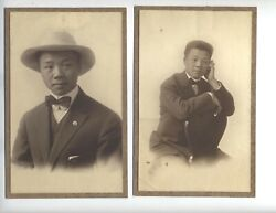 C1912 Asian American Amherst Mass Photos Very Rare Student Vintage