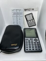 Sportyandrsquos E6b Electronic Flight Computer W/reference Card Manual And Case Tested