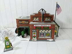 Department 56 Bucks County Abner's Implement Co. John Deere Lights Up . With Box