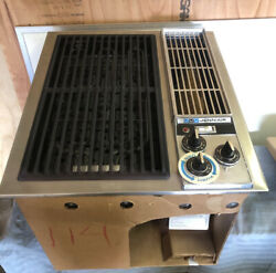 Jenn Air Down Draft Griddle Grill Stainless Vintage 89889 New In Box Nos Rare