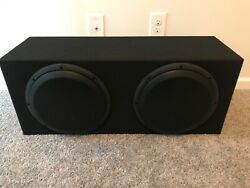 Jl Audio 12w3v3-4 Subwoofers In A Ground-shaker Enclosure