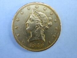 1849 Liberty Gold Eagle 10 Dollar Coin Pre Civil War Early Date Low Mintage