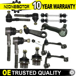 12pcs Kits Control Arm Ball Joint Tierod For Ford F-150 F-250 Expedition 4x4 4wd