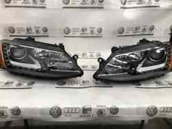 Genuine Pair Set Of Left And Right Xenon Led Headlight Assembly For Vw Jetta 11-18
