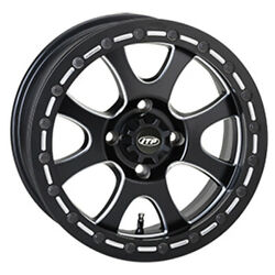 Itp Tires Wheel With Bead Lock Matte Black - Pn 1522084727b - Sold Individually