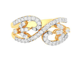 1.12ct Natural Round Diamond 14k Solid Yellow Gold Cluster Ring Size 7 To 9