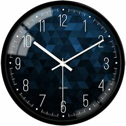 Wall Clock Modern Clock Arabic Numerals 12 Inch Operated Silent Non Ticking