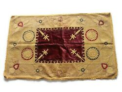 Antique Velvet Silk Wall Home Decorative Tapestry Fine Hand Embroidered Throw