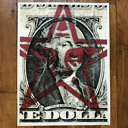 Rare Early 2003 Signed Sheppard Fairey Obey Print This Is Your God Dollar