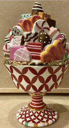 Dept 56 Glitterville Christmas Holiday Candy Dish Very Clean With Vibrant Colors
