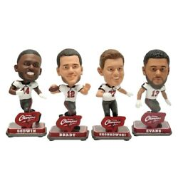 Tampa Bay Buccaneers Super Bowl Champions Mini Bobbleheads 4-pack With Tom Brady