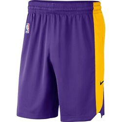 New 2021 Nba Los Angeles Lakers Nike Standard Issue Dri-fit Practice Shorts Nwt