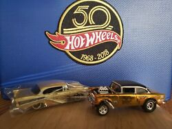 Hot Wheels 50th Anniversary '55 Chevy Bel Air Gasser And Larry Woods '57 Chevy. 👍