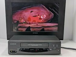 Daewoo Dv-t5dn Vcr 4 Head Vhs Hq. High Speed Rewind System.tested And Works Great