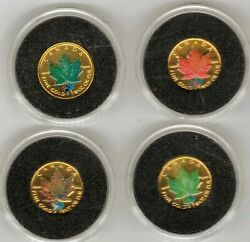 Canada Series 4 Values Of 5 Dollars Gold 2002 @ Protection Del Planet @
