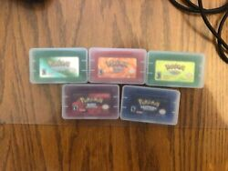 Pokemon Ruby Emerald Fire Red Leaf Green Sapphire Gba Gameboy Advance Game Card