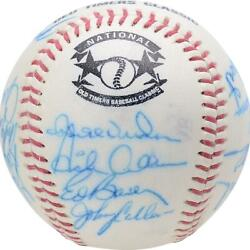 1987 Nl Team Signed Old Timers Cracker Jack Baseball With Mult Sigs - Bas A66578