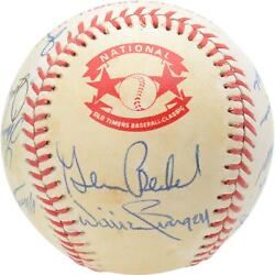 1986 Nl Team Signed Old Timers Cracker Jack Baseball With Mult Sigs - Bas A66572