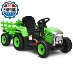 12v Kids Ride On Tractor Remote Control Kids 3+ Years Old Battery Powered Toysol