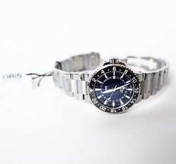 Oris Aquis Gmt Date Blue Menand039s Watch - New With Tags