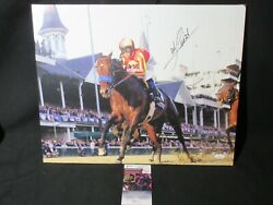 Mike Smith Signed Churchill Downs 16x20 Stretched Wood Framed Canvas Jsa Coa