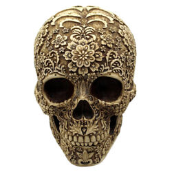 Life Size Antique Human Skull Head Skeleton Model Statue For Halloween Party