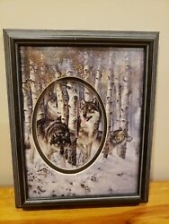 Larry Fanning Framed Multitiered Wolf Art Picture