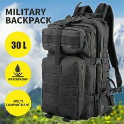 Military Tactical Army Backpack Rucksack Camping Hiking Trekking Outdoor Bag 30L $23.74
