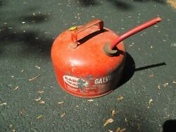 Eagle Galvanized Metal Gas Can 2 1/2 Gal. W/spout And Zinc Lid Gasser