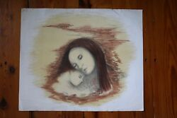 Ray Euffa American Artist 2 X Serigraph/litho Woman And Child And Innocent Victims