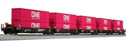 Kato 106-6194 N Bnsf Maxi-i Double Stack Car W/one Container 238615 Set Of 5
