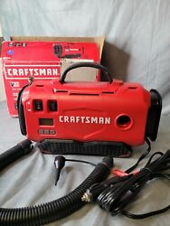 Craftsman Cmce520b Cordless Air Inflator V20 For Tire Mattress Tool Red Black