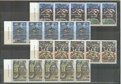 Greece Olympic Games Atlanta 1996 Perforated Strips Of 5 With Number On The Back