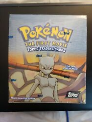 Pokemon The First Movie Topps Trading Cards Box 36 Packs Black Label Nibs