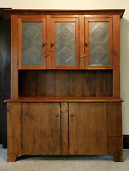 Primitive Hutch Handcrafted In Reclaimed Antique New England Barn Wood