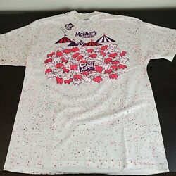 Vintage 90s Mother#x27;s Cookies All Over Print Snack Tee T Shirt Size XL $249.99