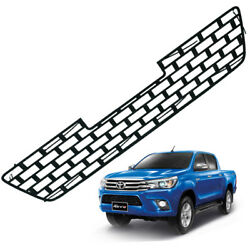 Front Lower Grill Grille Black Trim 1 Pc Fits Toyota Hilux Revo Truck 2015 16 17