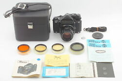 N Mint W/ Case And Color Filter Pentax 6x7 Mirror Up Ttl + T 105mm From Japan