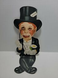 1930's Charlie Mccarthy Ventriloquist Dummy Cardboard Cut-out Moving Eyes/mouth