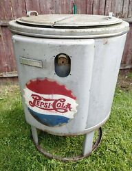Antique 1950and039s Pepsi Cola Cooler By Deep-freeze Model H-5 Super Rare