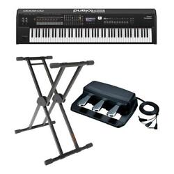 Roland Rd-2000 88 Weighted Keys Digital Stage Piano W/roland Rpu-3 Pedal/ Stand