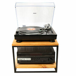 Turntable Stand With Rack Storage Vinyl Industrial Loft Made In Europe