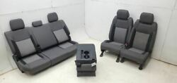 2016-2018 Toyota Tundra Oem Black Cloth Seats W/ Console Front Rear Seat