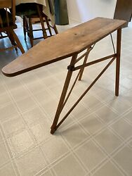 Antique Our Own National Washboard Co Chicago Wooden Child Ironing Board 34