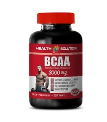 Pre Workout Supplement - Bcaa 3000mg 1 Bottle - Increase Muscle Mass 120 Tablets