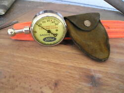 Vintage Us Model A Ford Tire Gauge Antique Pouch Display Parts Free Usa Shipping