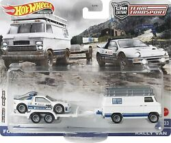 Hot Wheels Team Transport - Ford Rs200 / Rally Van 33 - In Stock